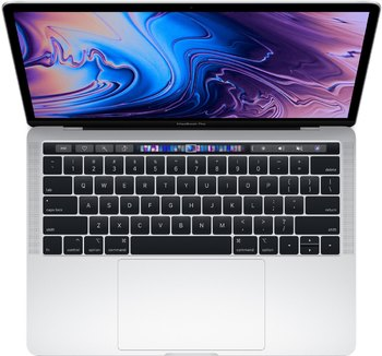 Apple 13-inch MacBook Pro with Touch Bar(2019) Silver MUHQ2RU/A